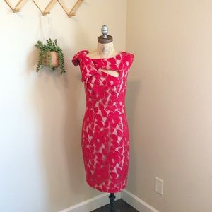 🌟HP🌟 Anthropologie Tracy Reese Lace Red Dress